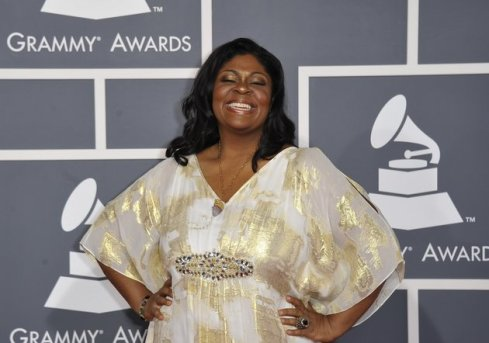 Kim Burrell arrives at the Staples Center for the 54th Grammy Awards in Los Angeles, California, February 12, 2012. AFP PHOTO  Joe KLAMAR (Photo credit should read JOE KLAMAR/AFP/Getty Images)